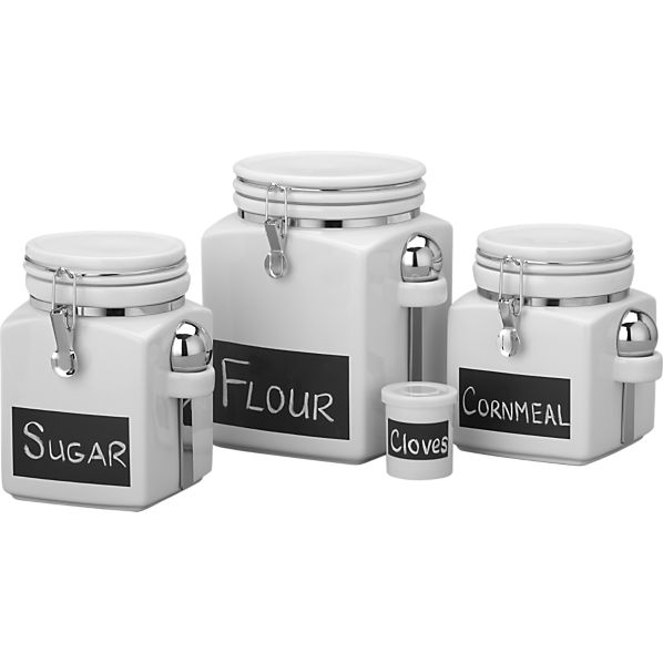 Chalkboard Canisters by Crate and Barrel
