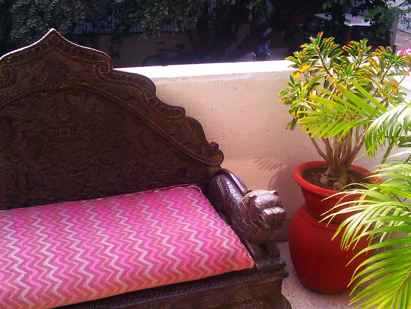 Lounge Sofa on Balcony, New Delhi, India