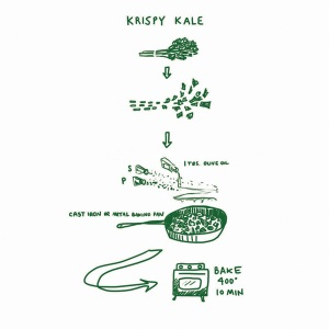 Krispy Kale recipe; Picture Cook by Katie Shelly.