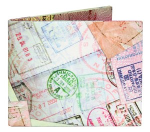 Image Credit: allposters.com - Passport Stamps Tyvek Mighty Wallet
