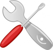 Image Credit: Hardware Tools Workshop Screwdriver Wrench Clip Art from Vector.me