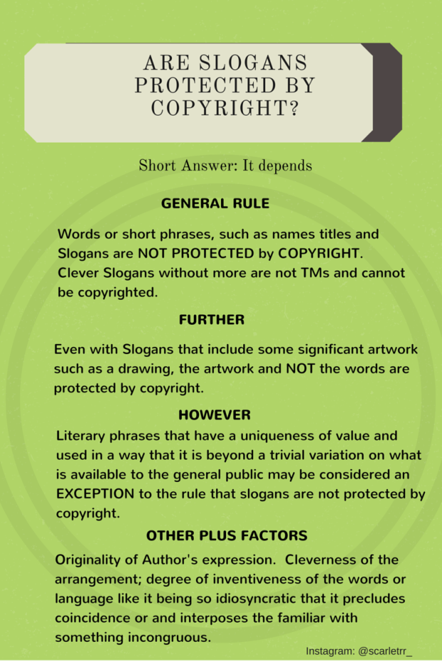 Are Slogans Protected - TSD